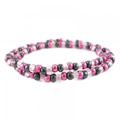 kralenarmband color fuchsia blue