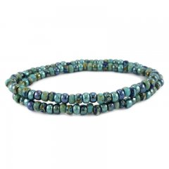 kralenarmband color turquoise green
