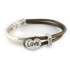 love armband bronze brown hart love