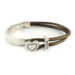 love armband bronze brown hart