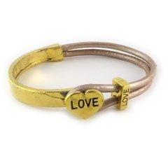 love armband goud oud roze hart love
