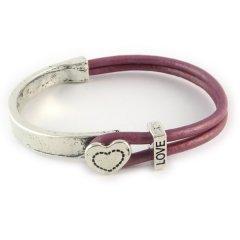 Love armband metallic roze