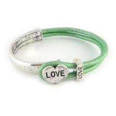 love armband mint green hart love