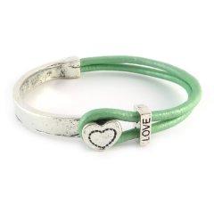love armband mint green hart