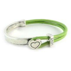 love armband peridot green hart
