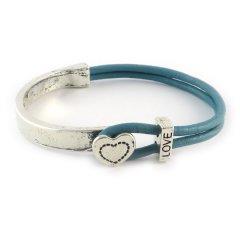 love armband petrol blue hart