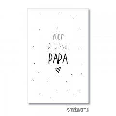 minikaart met de tekst liefste papa