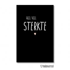 Minikaart met tekst sterkte kleur zwart