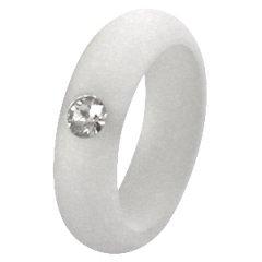 Polaris ring mat silver shade met Swarovski steen-17