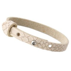 Smalle armband reptile beige