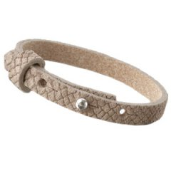 Smalle armband reptile natural brown