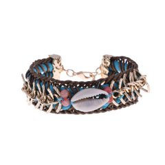 ibiza armband kleur blue seashell