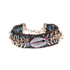 ibiza armband kleur blue seashell