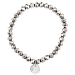 Facet armband silver shade