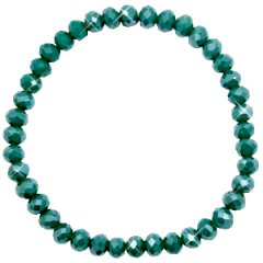 Facetarmband kleur petrol green 6mm