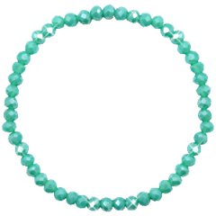 Facetarmband turquoise green 4mm