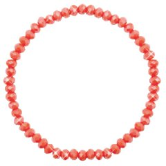 Facetarmband kleur rose peach 4mm