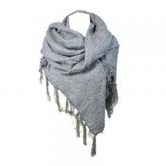 sjaal glittergrijs