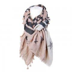 Sjaal ster wit roze