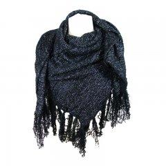 sjaal glitterzwart