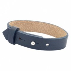 Brede armband kleur dark blue
