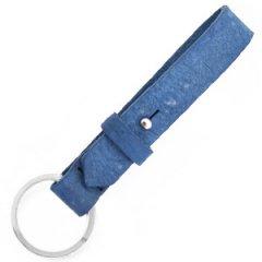 Leren sleutelhanger kleur Victoria blue