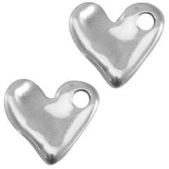 zilverkleurig hartje dicht