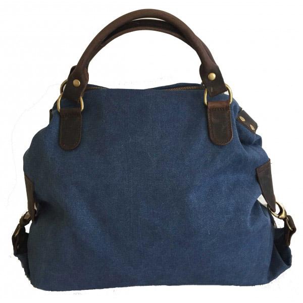 Tas met ster jeansblue achterkant