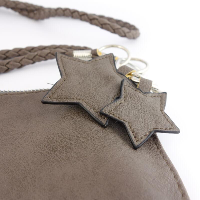 Clutch bruin met sterren detail
